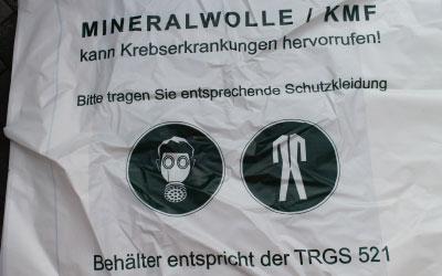Mineralfaserabfälle KMF