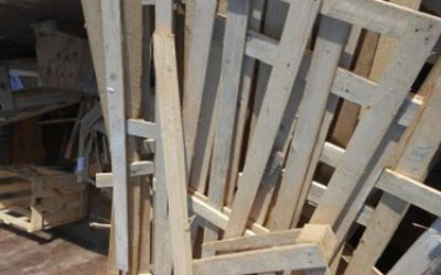 Altes Holz aus Paletten