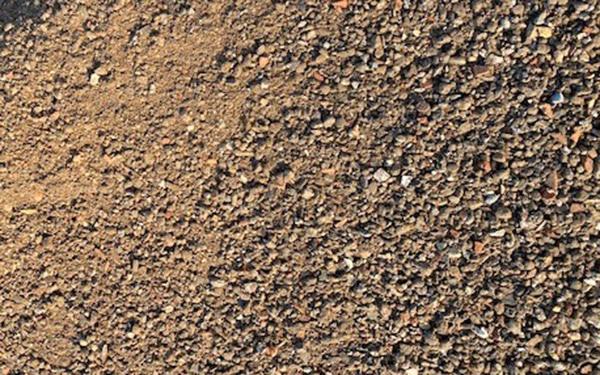 Recyclingschotter aus Betonbruch Körnung 0-16 mm