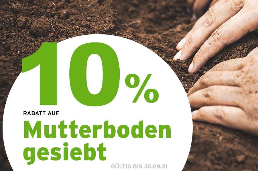 Angebot des Monats Schüttgüter, Rabatt auf Mutterboden